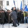 Байков уводит Додонова под конец митинга